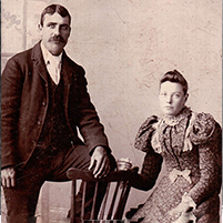 James and Catherine McKinnon wedding photo 1897